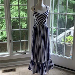 J. Crew Cotton Striped Maxi Dress